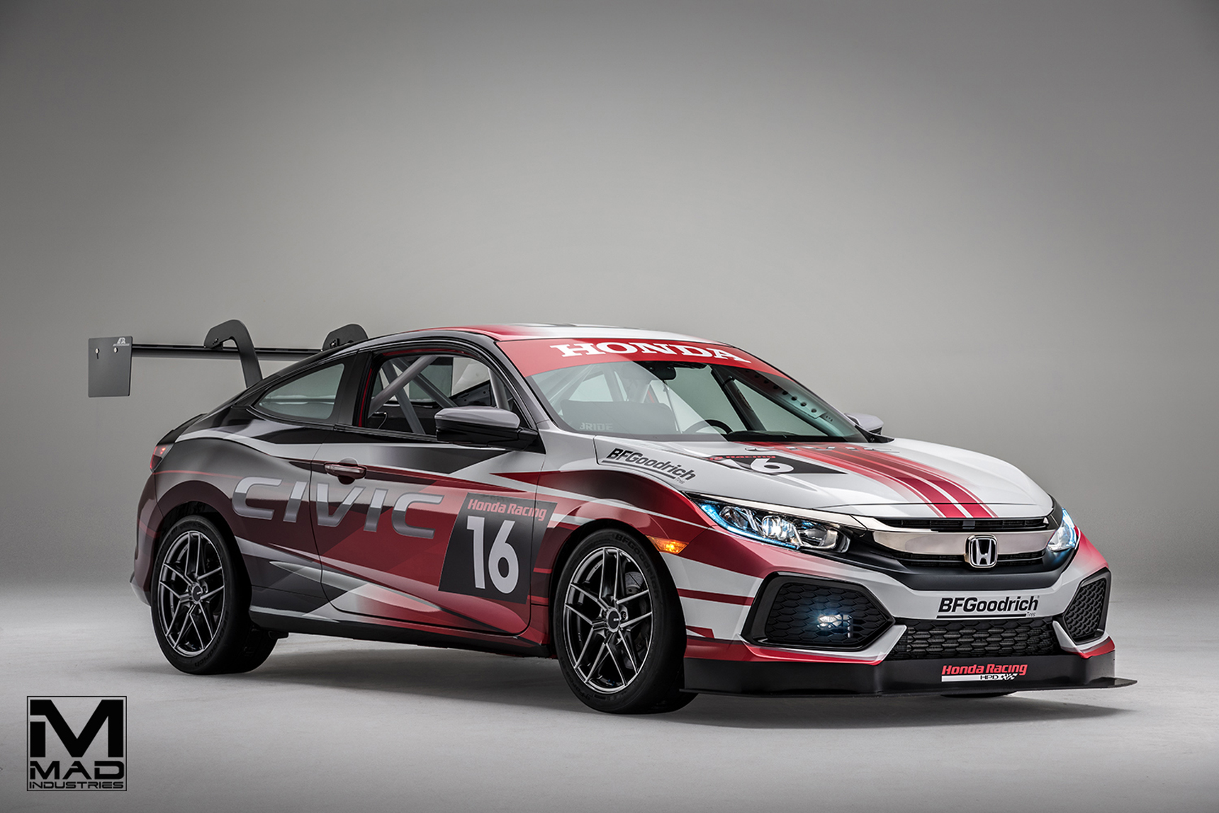 Mad 2016 honda civic coupe racing concept mad industries for Honda civic race car