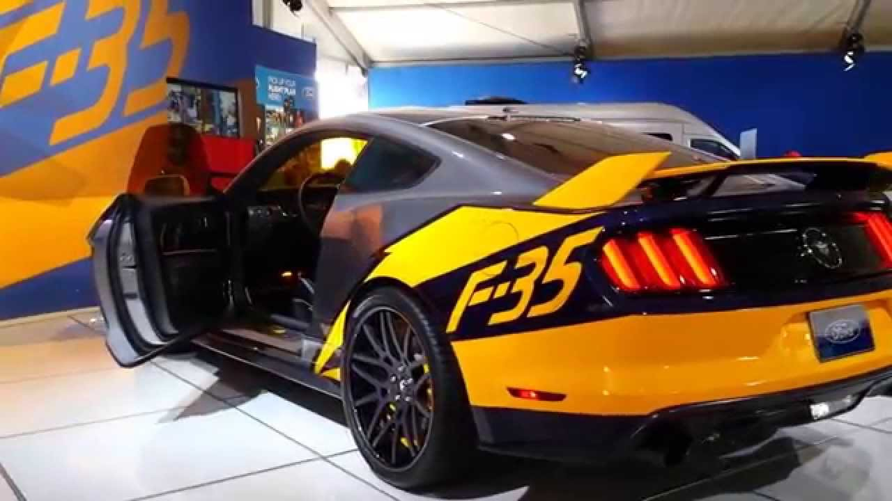 2015 F-35 Lightning II Edition Mustang being displayed at EAA AirVenture